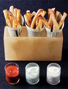 French Fries with Three Dips Recipe