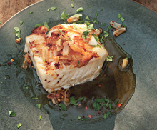 Grilled Black Cod with Fried Garlic and Chiles Recipe