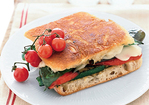 Grilled Vegetable and Mozzarella Panini Recipe