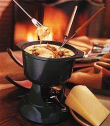 Gruyère Fondue with Caramelized Shallots Recipe