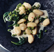 Lemon Gnocchi with Spinach and Peas Recipe