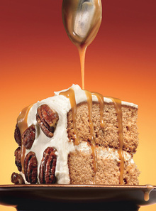 Maple-Gingerbread Layer Cake with Salted Maple-Caramel Sauce Recipe