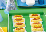 Mini Hot Dogs in Cheddar Buns Recipe