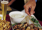 Peppered Tuna Skewers with Wasabi Mayonnaise Recipe
