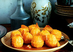 Poached Oranges with Candied Zest and Ginger Recipe