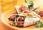 Rio Grande Beef Burritos with Roasted Peppers Recipe
