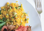 Saffron-Scented Couscous with Pine Nuts Recipe