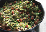 Sautéed Shredded Brussels Sprouts with Smoked Ham and Toasted Pecans Recipe