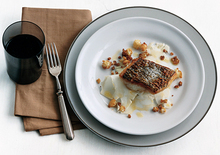 Seared Bass with Cauliflower Duo Recipe