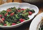Skillet Greens with Cumin and Tomatoes Recipe