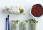 Summer Rolls with Baked Tofu and Sweet-and-Savory Dipping Sauce Recipe