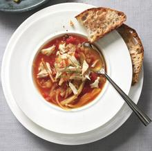 Tomato, Fennel, and Crab Soup Recipe