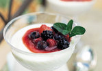 Vanilla Panna Cotta with Mixed-Berry Compote Recipe