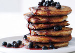 Whole Grain Pancakes with Wild Blueberry-Maple Syrup Recipe