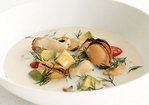 Mussel Soup with Avocado, Tomato, and Dill Recipe
