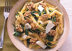 Penne with Broccoli Rabe, Walnuts, and Pecorino Recipe