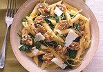 Penne with Broccoli Rabe, Walnuts, and Pecorino Recipe