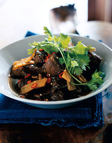 Pork Braised in Dark Soy Sauce Recipe