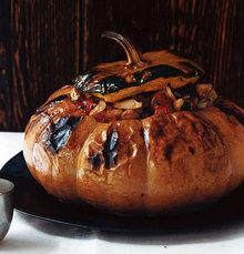 Pumpkin Stuffed with Vegetable Stew Recipe