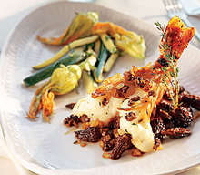 Roasted Prawns with Morels and Morel Butter Recipe