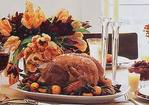 Roast Turkey with Apples, Onions, Fried Sage Leaves, and Apple Cider Gravy Recipe