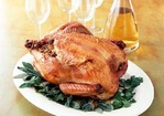 Roast Wild Turkey with Blue Cornbread-Shrimp Stuffing Recipe