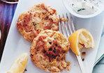 Salmon and Whitefish Cakes with Horseradish Cucumber Sauce Recipe