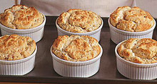 Shrimp and Crab Souffles with Red Bell Pepper and Tarragon Recipe