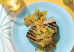 Spicy Grilled Tuna with Garden Salsa Recipe