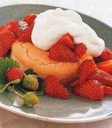 Strawberry Shortcakes with Vanilla-Orange Syrup Recipe