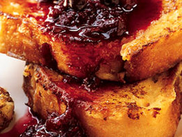 Vanilla-Maple French Toast with Warm Berry Preserves Recipe