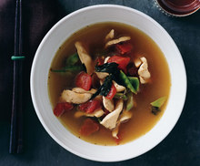 Thai-Style Chicken Soup with Basil Recipe