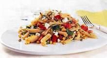Warm Pasta Salad with Roasted Corn and Poblanos Recipe
