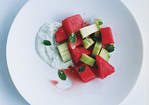 Watermelon and Cucumber Mint Tsatsiki Salad Recipe