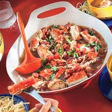 Cioppino-Style Roasted Crab Recipe