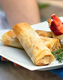 Cheese, Herb, and Sun-Dried Tomato Phyllo Rolls Recipe