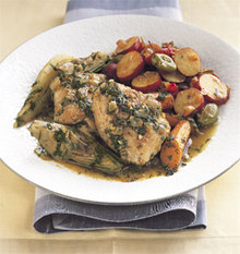Chicken Tagine with Spring Vegetables Recipe