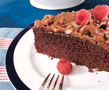 Chocolate Cake with Ganache and Praline Topping Recipe