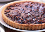 Chocolate, Caramel, and Walnut Tart Recipe