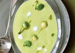 Cold Avocado Corn Soup with Cilantro Oil Recipe