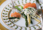 Asparagus with Smoked Salmon and Gribiche Sauce Recipe