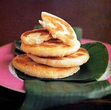 Fried Masa Cakes with Cheese (Arepas de Queso) Recipe