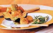 Garam Masala Scallops Over Acorn Squash Recipe