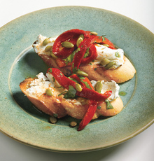 Goat Cheese with Chipotle and Roasted Red Pepper Recipe