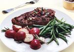 Grass-Fed Steaks with Kalamata-Olive Chimichurri Recipe