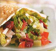 Greek Salad Pita Sandwiches Recipe