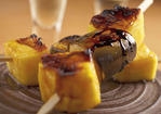Grilled Pineapple and Bananas with Lemonade Glaze Recipe