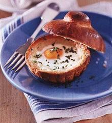 Baked Eggs in Brioches Recipe