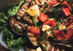 Grilled Summer Vegetables with Harissa Dressing Recipe