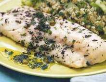 Herb-Roasted Sea Bass with Salsa Verde Recipe